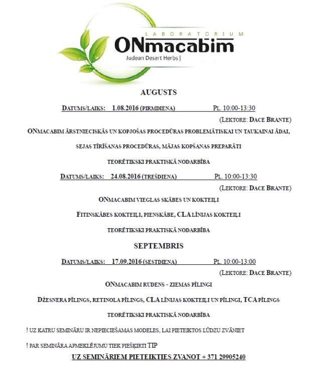 Seminari  ONmacabim