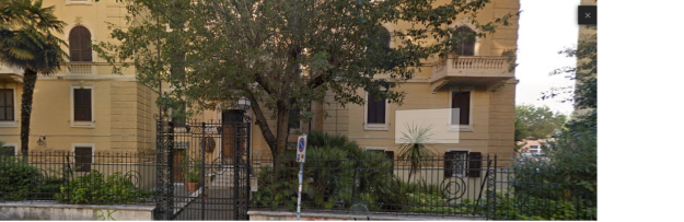 International Esthetique Schule ēkas fasāde.