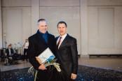 foto: Uldis Bērziņš ar Andri Ozolu Latvijas Investīciju un attīstības aģentūras (LIAA) direktoru